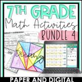 7th Grade Math Activities Bundle 4 | Distance Learning | D