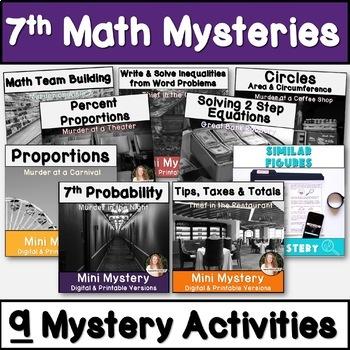 7th Grade Math Activity Bundle! CCSS & TEKS Aligned!