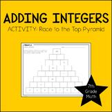 7th Grade Math Adding Integers Activity