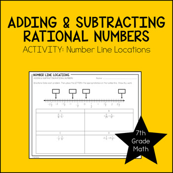7th Grade Math Adding & Subtracting Rational Numbers Activity
