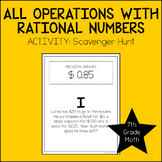 7th Grade Math All Operations with Rational Numbers Activity