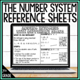 7th Grade Math Anchor Charts: The Number System