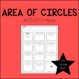 7th Grade Math Area of a Circle Activity