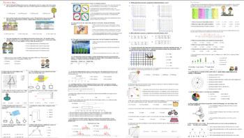 7th Grade Math Assessment Bundle 9 exams 7 Study Guides 17 Quizzes