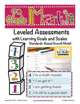 7th Grade Math Assessment (7.RP.1-3) with Learning Goals and Scales - FREE!