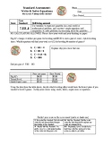 7th Grade Math Assessment: Write and Solve Equations (7EE4) v1