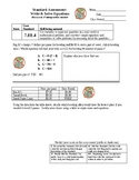 7th Grade Math Assessment: Write and Solve Equations (7EE4) v2
