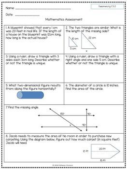 7th Grade Math Assessments