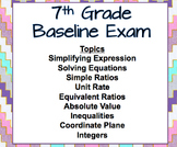 7th Grade Math Baseline Exam