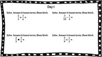 7th Grade Math Bell Ringers (Spiraled)