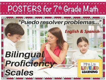 7th Grade Math Bilingual Proficiency Scales - English and Spanish