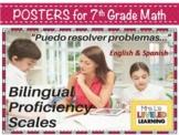 7th Grade Math Bilingual Marzano Proficiency Scales - English and Spanish