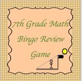 7th Grade Math Bingo Review Game #2, TCAP Review