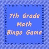 7th Grade Math Bingo Review Game #1, TCAP Review