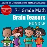 7th Grade Math Brain Teasers Bundle
