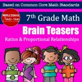 7th Grade Math Brain Teasers - Ratios and Proportional Rel