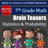 7th Grade Math Brain Teasers - Statistics and Probability