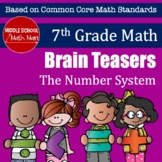 7th Grade Math Brain Teasers - The Number System