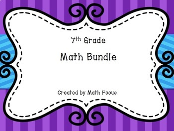 7th Grade Math Bundle