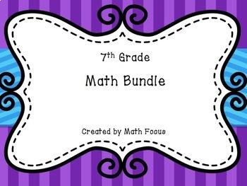 7th Grade Math Bundle--includes 16 lessons