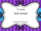 7th Grade Math Bundle--includes 16 lessons