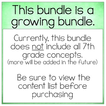 7th Grade Math Bundle ~ All My 7th Grade Math Products for 1 Low Price