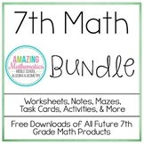 7th Grade Math Bundle ~ All My 7th Grade Math Products for