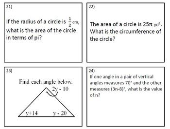 7th Grade Math EOG Test Prep Review Common Core Aligned