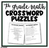 7th Grade Math CROSSWORD PUZZLE Bundle