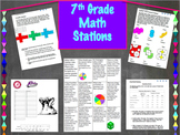 7th Grade Math Activities ~End of Year Review 1 week worth of work