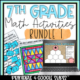7th Grade Math Activities Bundle 1 | Distance Learning