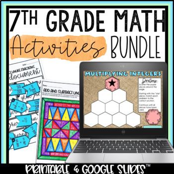 Middle School Math Activity Pack Bundle