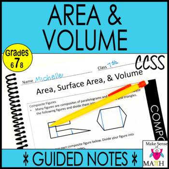 Area and Volume Notes and Activities Bundle