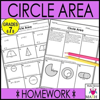 Circle Circumference and Area  Notes and Activities Bundle