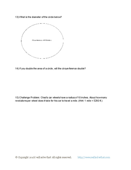 7th Grade Math: Circumference and Area of a Circle 7.G.B.4