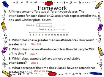 Homework for the Year - 7th Grade Math