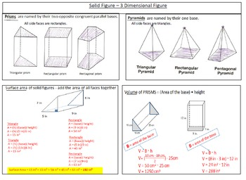 Interactive Notes for the Year -7th Grade Math