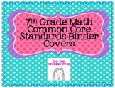 7th Grade Math Common Core Binder Covers
