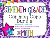 7th Grade Math Common Core Bundle! Everything You Need! *C