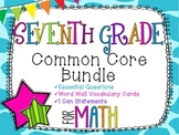 7th Grade Math Common Core Bundle! Everything You Need! *G