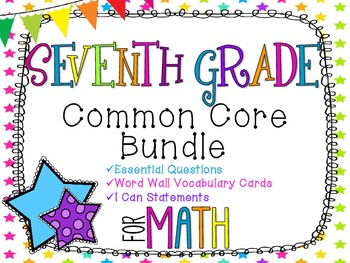 7th Grade Math Common Core Bundle! Everything You Need! *Neon Stars*