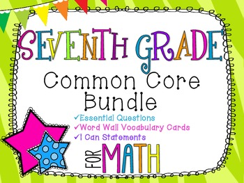 7th Grade Math Common Core Bundle! Everything You Need! *Zebra Print*