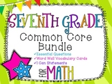 7th Grade Math Common Core Bundle! Everything You Need! *Z