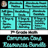 7th Grade Math Common Core Mini Bundle