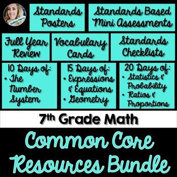 7th Grade Math Common Core Mini Bundle