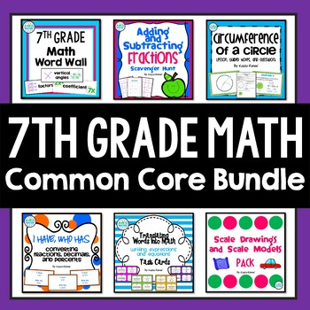 7th Grade Math Fabulous Bundle