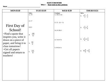 7th Grade Math Common Core Homework