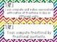 7th Grade Math Common Core *I Can Statements* Rainbow Chevron