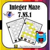 Integer Maze Puzzle Worksheet 7.NS.1