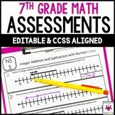 7th Grade Math Assessments Common Core Bundle